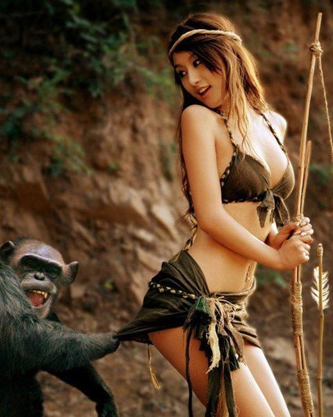 1-girl-photoshoot-with-monkey