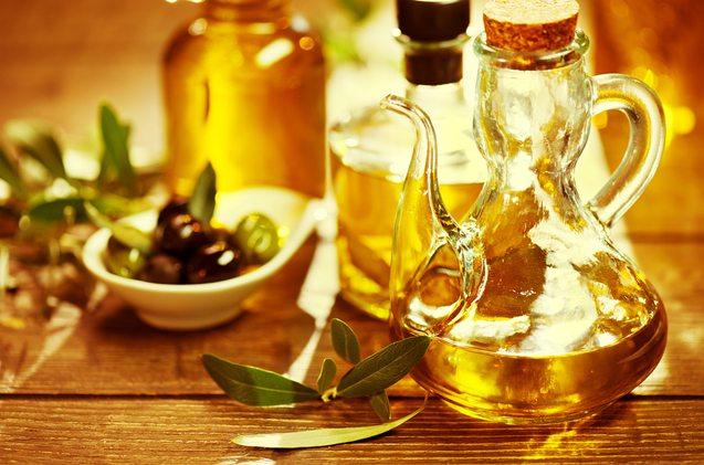 Olive Oil. Bottle of Virgin Olive Oil. Olives and Healthy Olive